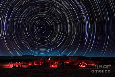 Amateur Astronomy Photograph - Star Trails by Larry Landolfi