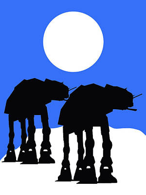 At Poster Mixed Media - Star Wars At-at Collection by Marvin Blaine