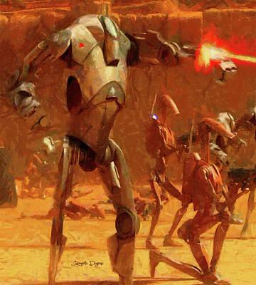 Shooting Painting - Star Wars B2 Battle Droid - Free Style by Leonardo Digenio