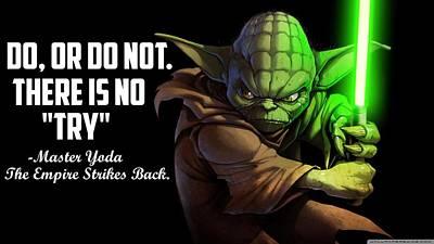 Artichoke Digital Art - Star Wars Episode V The Empire Strikes Back by Dorothy Binder
