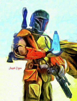 Back Painting - Star Wars Execute The Order - Van Gogh Style by Leonardo Digenio