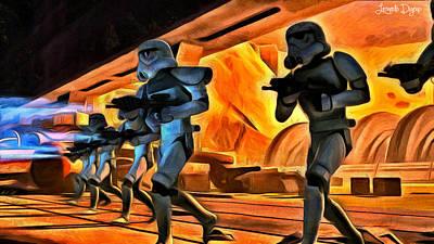 Luke Digital Art - Star Wars Invasion by Leonardo Digenio