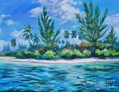 Sandbar Painting - Starfish Point by John Clark