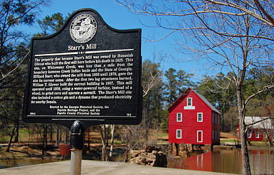 Starrs Mill Photograph - Starr's Mill Commemorative Plaque by Ben Prepelka