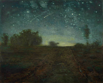 Starry Night Millet Painting - Starry Night by Jean Francois Millet
