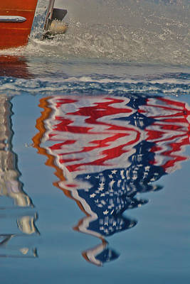 Stars And Stripes On The Water Art Print by Steven Lapkin