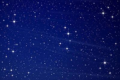 Pleiades Digital Art - Stars In The Night Sky by Natthawut Punyosaeng