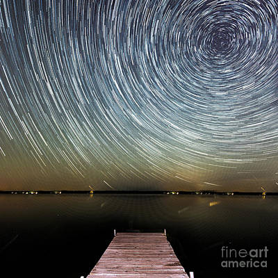 Astro Photograph - Stars Over Lake by Twenty Two North Photography