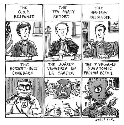 State Of The Union Drawing - State Of The Union Responses by Joe Dator
