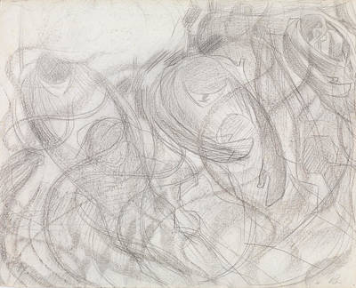 Boccioni Drawing - States Of Mind - The Farewells by Umberto Boccioni