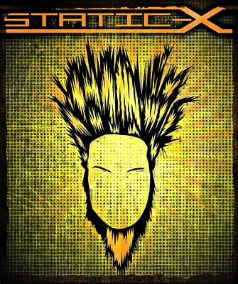Digital Art - Static-x by Kyle West
