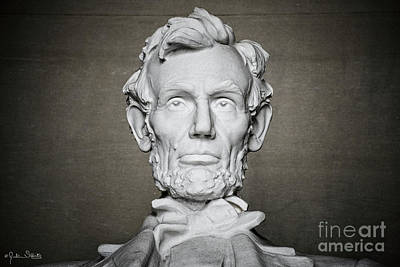 Statue Of Abraham Lincoln #1 Art Print
