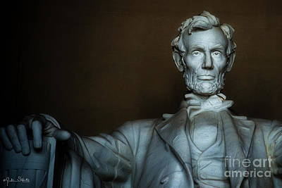 Statue Of Abraham Lincoln #5 Art Print