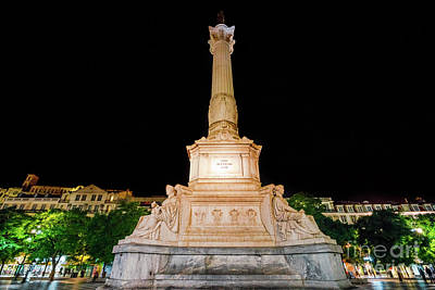 Photograph - Statue Of Dom Pedro Iv by Benny Marty