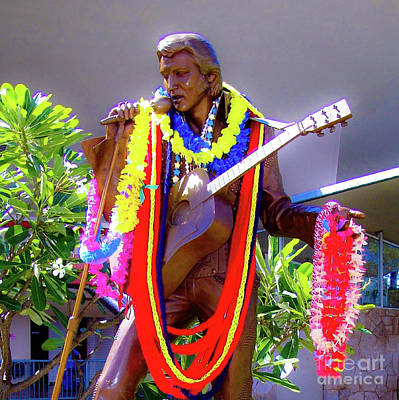 Photograph - Statue Of, Elvis Presley - Honolulu, Hawaii  by D Davila