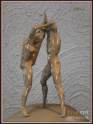 Statue Portrait Digital Art - Statue Of Erotic Acrobats 112 by Pemaro