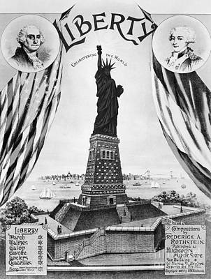 Galop Photograph - Statue Of Liberty, 1885 by Granger
