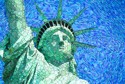 Painting - Statue Of Liberty 3 by Jeelan Clark