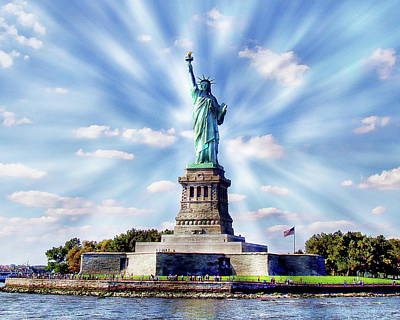 Photograph - Statue Of Liberty by Anthony Dezenzio