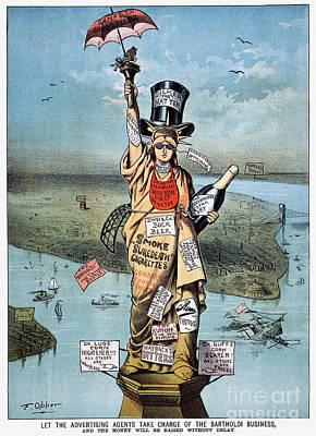 Photograph - Statue Of Liberty Cartoon by Granger