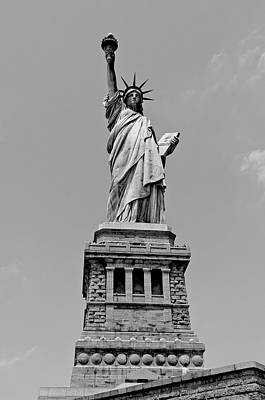 Goddess Of Liberty Photograph - Statue Of Liberty In Black And White by Craig Fildes