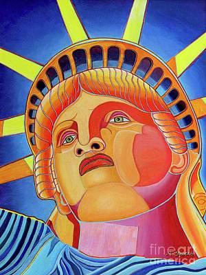 Painting - Statue Of Liberty by Joseph J Stevens