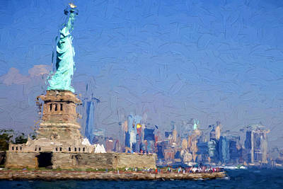 Digital Art - Statue Of Liberty, Nyc by Matthew Ashton