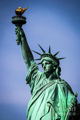 Farmhouse Royalty Free Images - Statue of Liberty Royalty-Free Image by Thomas Marchessault