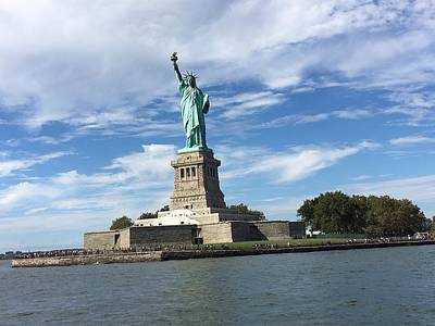 Photograph - Statue Of Liberty by Val Oconnor