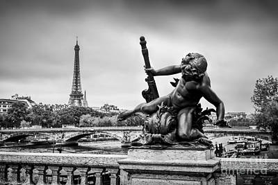 Photograph - Statue On Pont Alexandre IIi Bridge In Paris, France by Michal Bednarek
