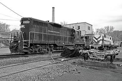 Photograph - Staunton, Va Railroad 1 B W by Joseph C Hinson Photography