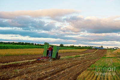 Photograph - Steam Engine Plowing by David Arment