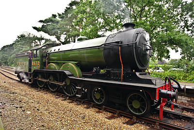 Photograph - Steam Locomotive In England by Paul Cowan