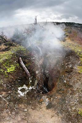 Photograph - Steam Vent In Hawaii by Joe Belanger