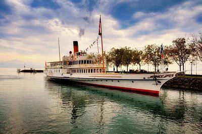 Photograph - Steamboat On Lake Geneva by Sofilayla Thai