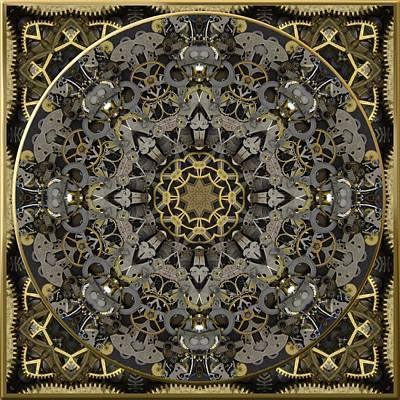 Digital Art - Steampunk Brass And Steel No. 2 by Charmaine Zoe