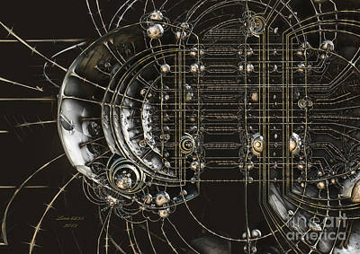 Digital Art - Steampunk Bulb by Melissa Messick