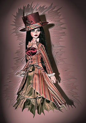 Digital Art - Steampunk Doll Painting by Artful Oasis