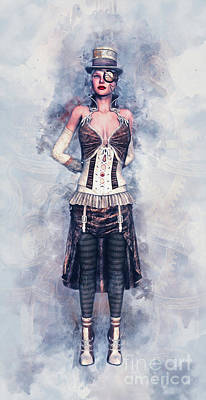 Steampunk Royalty-Free and Rights-Managed Images - Steampunk Girl by Ian Mitchell