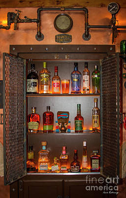 Photograph - Steampunk Interior Design 4 Liquor Vault Atlanta Mancave Bar Art by Reid Callaway