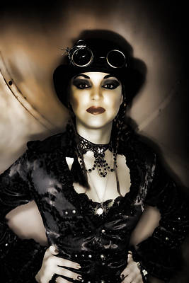Steampunk Royalty-Free and Rights-Managed Images - Steampunk Lady by Hugh Smith