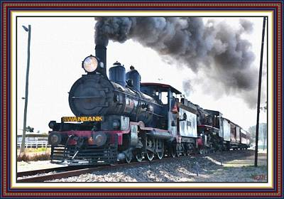 Steamtrain To Carltoncreekhurst L B With Decorative Ornate Printed Frame. Art Print