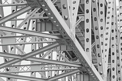 Photograph - Steel Engineered Highway Bridge Structure by Alex Grichenko