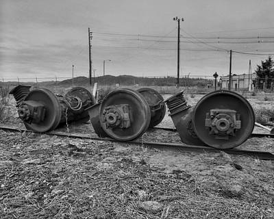 Photograph - Steel Wheels by HW Kateley