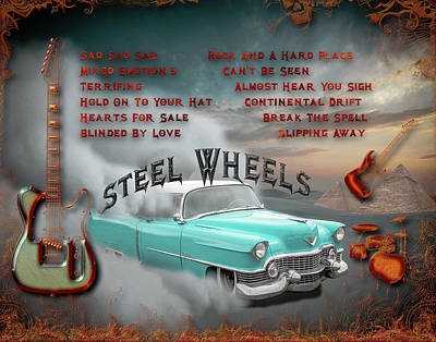 Digital Art - Steel Wheels by Michael Damiani