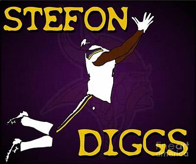 Stefon Diggs Art Print
