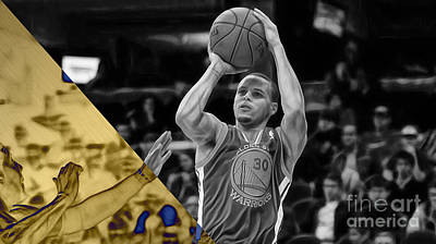 Mixed Media - Steph Curry Collection by Marvin Blaine