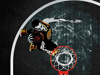 Stephen Curry In Flight Art Print by Brian Reaves