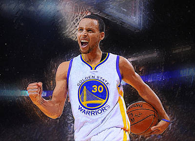 University Of Arizona Digital Art - Stephen Curry by Semih Yurdabak