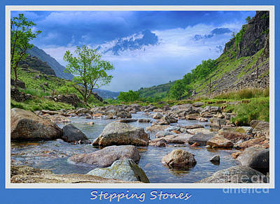 Digital Art - Stepping Stones by Wendy Wilton